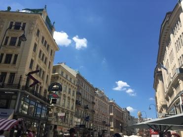 Une rue du centre de Vienne