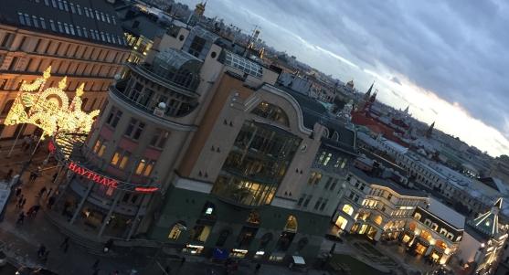 Noël à Moscou - vue du dernier étage