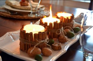 bougies et cannelle