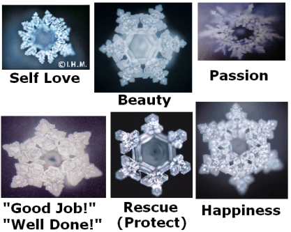 Masaru Emoto crystal photos